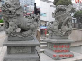 寺院石狮子摆放寓意