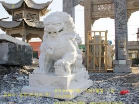 汉白玉石狮子雕刻样式