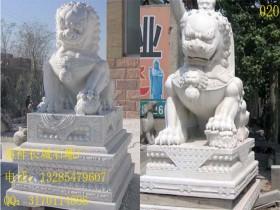 银行门口摆放石狮子的作用