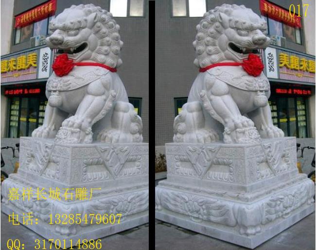 大门前摆放石狮子的寓意