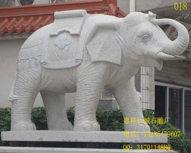 石雕大象摆放在室外的好处