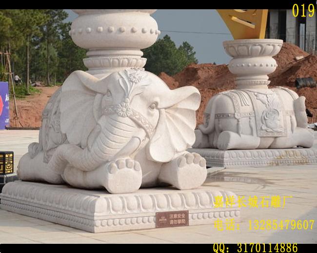 建筑物门口摆放石雕大象的作用