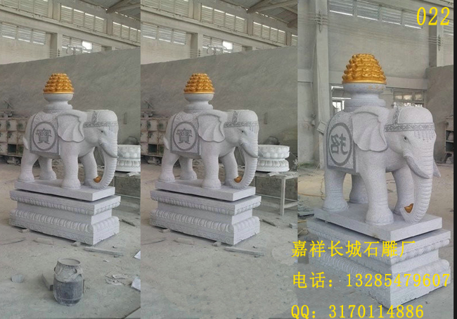 摆放石雕大象的寓意