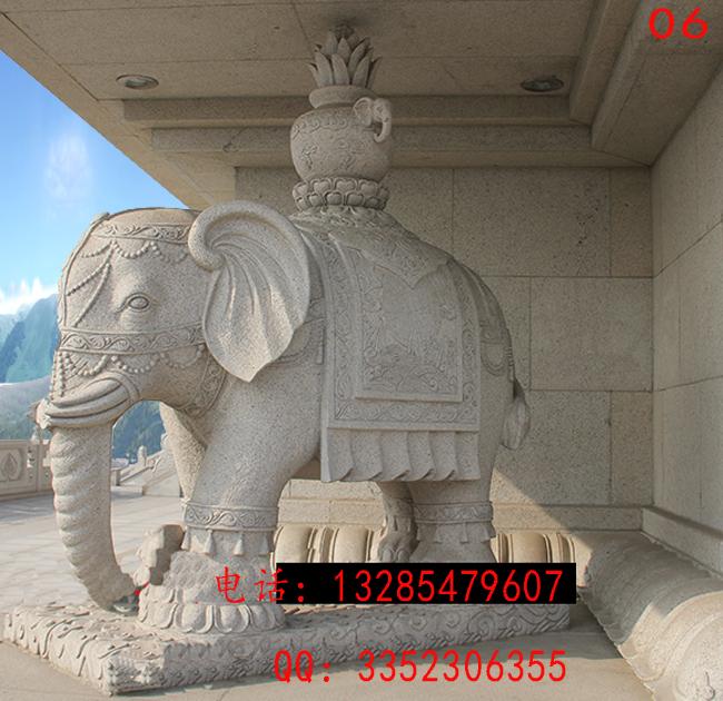 家中摆放石雕大象合适吗